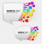 Vector illustration of abstract colorful bubbles speech poster