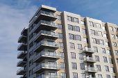 residential building modern apartment condominium architecture balcony poster