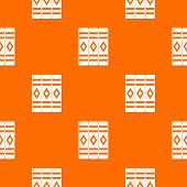 Three literary books pattern repeat seamless in orange color for any design. geometric illustration poster