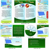Solar Panel Stationary - brochure design, CD cover design and business card design in one package and fully editable. poster