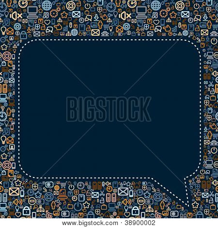 Social Media Speech Bubble. Seamless Vector Pattern