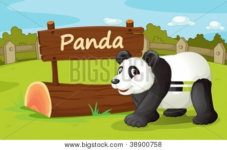 Illustration of animal enclosure at the zoo