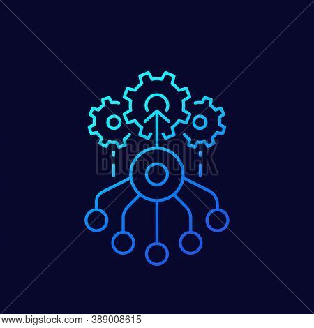 Combined Effort Icon, Linear Vector, Eps 10 File, Easy To Edit