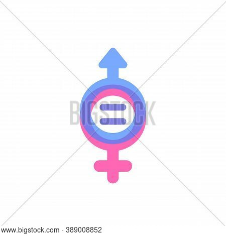 Gender Equality Concept, Vector Icon, Eps 10 File, Easy To Edit