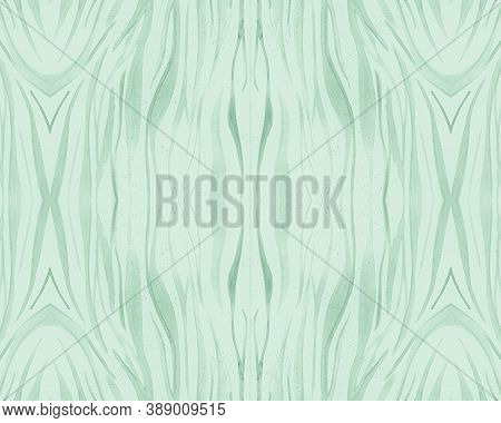 Green Seamless Zebra Pattern. Fashion Africa Texture. Zoo Jungle Skin. Watercolour Lines Fabric. Ani