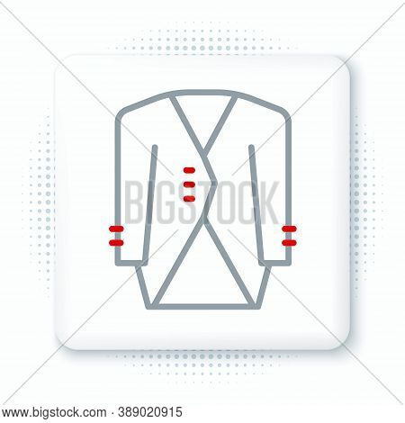 Line Suit Icon Isolated On White Background. Tuxedo. Wedding Suits With Necktie. Colorful Outline Co