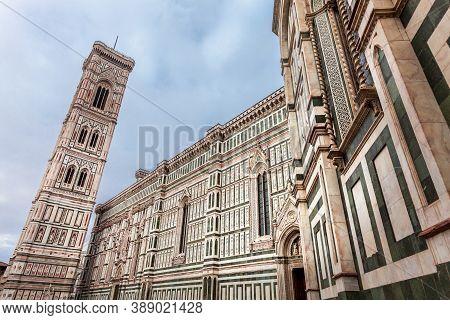 Giotto Campanile Near The Cathedral Of Santa Maria Del Fiore On The Piazza Del Duomo In Florence, It