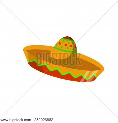 Sombrero. Wide-brimmed Mexican Hat. National Clothing Of South America