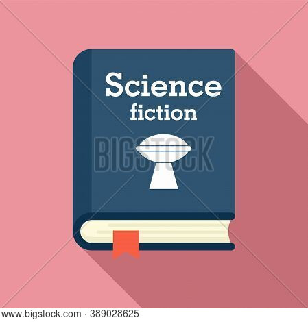 Science Fiction Book Icon. Flat Illustration Of Science Fiction Book Vector Icon For Web Design