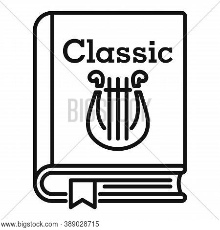 Classic Literary Book Icon. Outline Classic Literary Book Vector Icon For Web Design Isolated On Whi