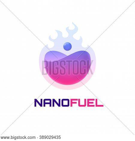 Nano Fuel Logo Template, Colorful Vector Graphic Design Element For Business, Gasoline Company Brand
