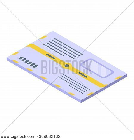 Postal Envelope Icon. Isometric Of Postal Envelope Vector Icon For Web Design Isolated On White Back