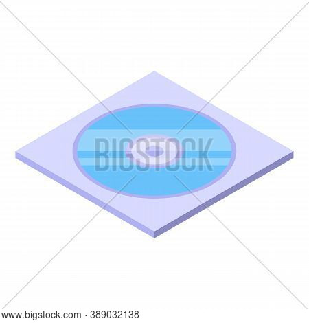 Disc Envelope Icon. Isometric Of Disc Envelope Vector Icon For Web Design Isolated On White Backgrou