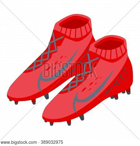 Football Trainers Icon. Isometric Of Football Trainers Vector Icon For Web Design Isolated On White