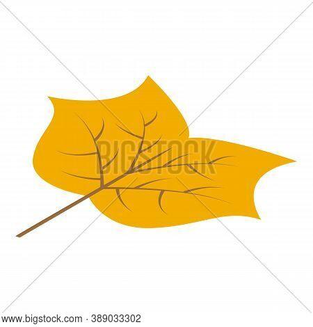 September Leaf Icon. Isometric Of September Leaf Vector Icon For Web Design Isolated On White Backgr