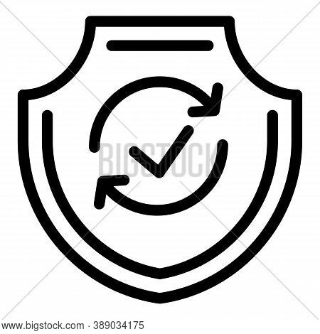 Reliability Icon. Outline Reliability Vector Icon For Web Design Isolated On White Background