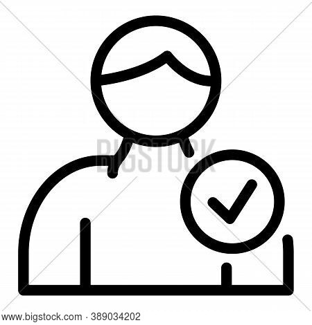 Person Reliability Icon. Outline Person Reliability Vector Icon For Web Design Isolated On White Bac