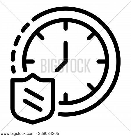 Time Reliability Icon. Outline Time Reliability Vector Icon For Web Design Isolated On White Backgro