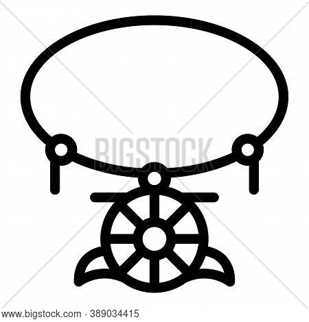 Culture Amulet Icon. Outline Culture Amulet Vector Icon For Web Design Isolated On White Background
