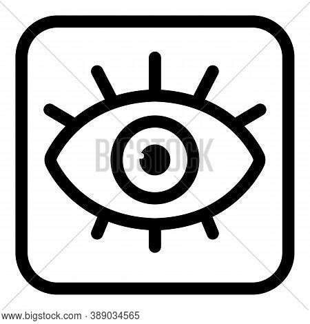 Alchemy Eye Amulet Icon. Outline Alchemy Eye Amulet Vector Icon For Web Design Isolated On White Bac