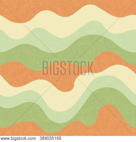 Kids Fashion Wavy Seamless Pattern. Nautical Waves Ripple Doodle Vector. Summer Wavy Stripes Childis