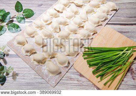 The Dough Is Flour And The Filling Is Meat And Vegetables.