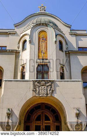 Belgrade / Serbia - May 16, 2020: Serbian Patriarchate, Seat Of Serbian Orthodox Church In Belgrade,