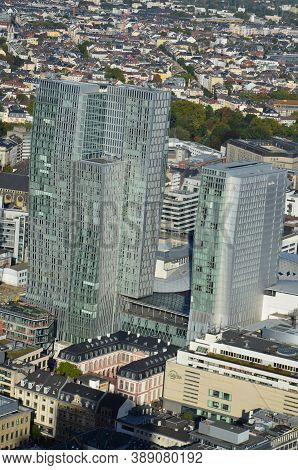 Frankfurt Am Main, Germany - 10.01.2017: Skyscrapers Of Frankfurt Am Main, Germany
