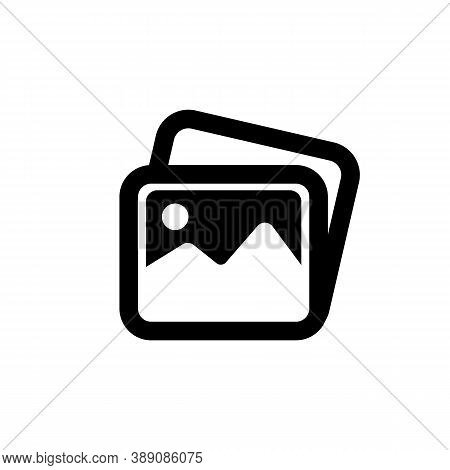 Image, Pictures Icon. Image Gallery Icon Symbol. Photo Icon. Vector Eps 10. Isolated On White Backgr
