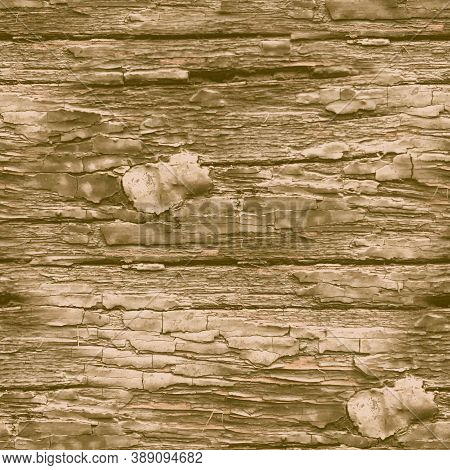 Beige Crackle Paint. Worn Crack Structure. Grungy Old Poster. Natural Wooden Material. Crackle Paint