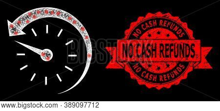 Shiny Mesh Polygonal Time Backward With Light Spots, And No Cash Refunds Dirty Ribbon Watermark. Red