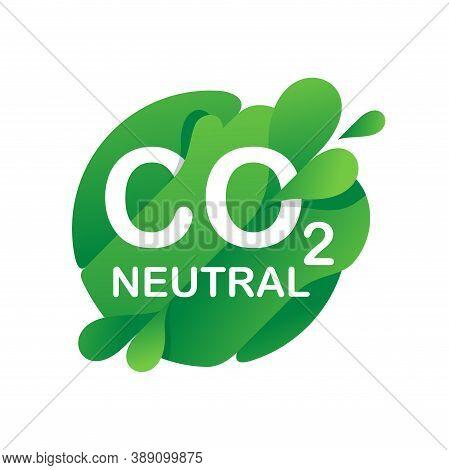 Co2 Neutral Green Stamp (net Zero Carbon Footprint) - No Air Atmosphere Pollution - Industrial Produ