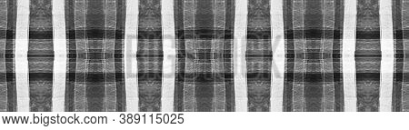 Black Buffalo Check. Watercolour Plaid Blanket. Wool Traditional Stripes For Fabric Design. Seamless