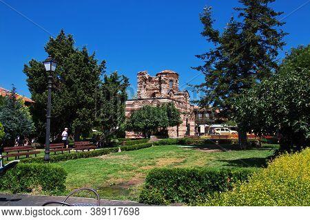 Nessebar, Bulgaria - 17 Jul 2015: Church Of The Holy Archangels Michael And Gabriel, Nessebar, Bulga