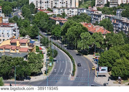 Plovdiv, Bulgaria - 12 Jul 2015: The View On Plovdiv, Bulgaria