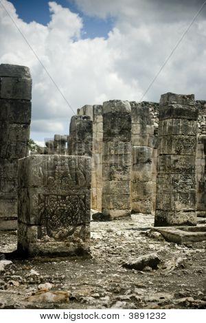 Chichen Itza Columns