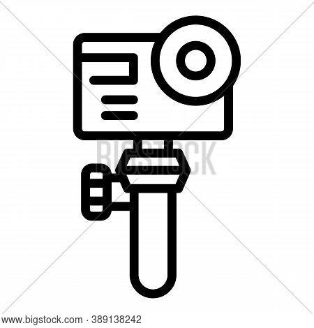 Portable Action Camera Icon. Outline Portable Action Camera Vector Icon For Web Design Isolated On W