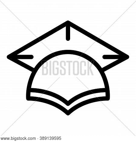 Academic Graduation Hat Icon. Outline Academic Graduation Hat Vector Icon For Web Design Isolated On