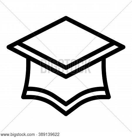 Achievement Graduation Hat Icon. Outline Achievement Graduation Hat Vector Icon For Web Design Isola