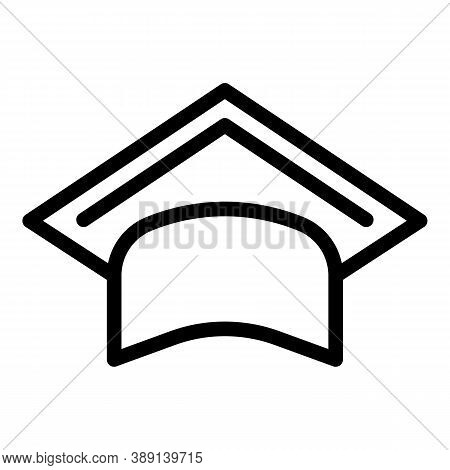 Education Graduation Hat Icon. Outline Education Graduation Hat Vector Icon For Web Design Isolated