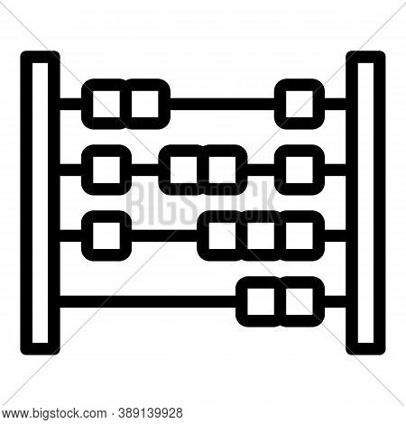 Mathematics Abacus Icon. Outline Mathematics Abacus Vector Icon For Web Design Isolated On White Bac