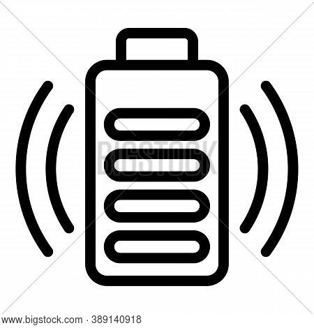 Charger Full Battery Icon. Outline Charger Full Battery Vector Icon For Web Design Isolated On White