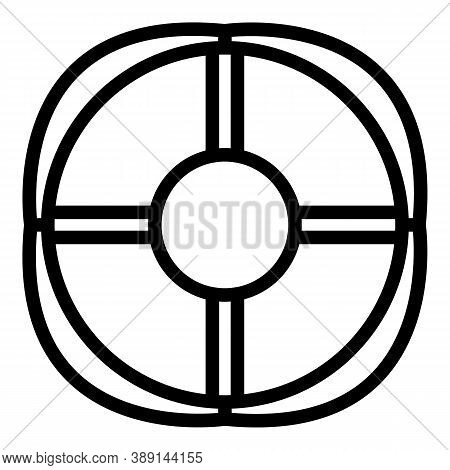 Rescue Life Buoy Icon. Outline Rescue Life Buoy Vector Icon For Web Design Isolated On White Backgro