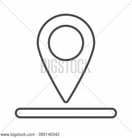 Location Of Golf Hole On Map Thin Line Icon, Golf Concept, Golf Position Sign On White Background, P