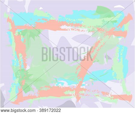 Creative Background In Pastel Shades Editable Vector Templates. Bright Colored With Hand Drawn N Bru