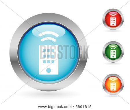 Glossy Remote Control Button Set