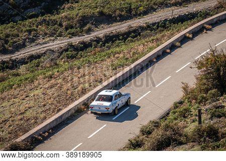 Col De San Colombano, Corsica, France - 8th October 2020: Ludovic Duprez & Olivier Vitrani Compete I