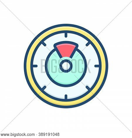 Color Illustration Icon For Timer Clock Quick Accurate Watch Deadline Countdown