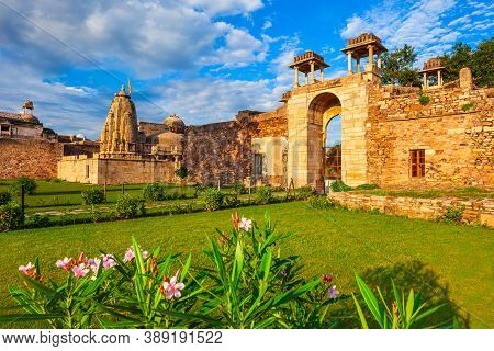 Rana Ratan Palace In Chittor Fort In Chittorgarh City, Rajasthan State Of India