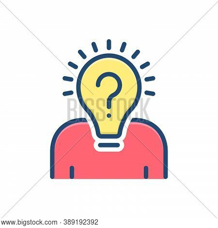 Color Illustration Icon For Originality Smart-ideas Smart Ideas Creative Innovation Invention Inspir